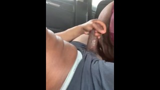 Dry Teen  : FAT GIRL SLIDING THAT GOOD FAT PUSSY ON MY DICK TARGET PARKING LOT FUN