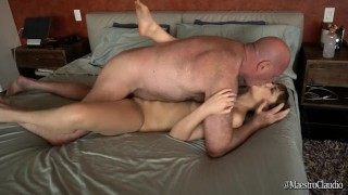 Dry Teen  : Golden Showers Grandpa and Teen  pee blowjob and fucking