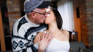 Dry Teen  : GrandpasFuckTeens She Asked Her Neighbor To Warm Her Up